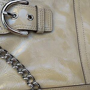 Coach Bags - SALE Coach Cream Patent Leather Bag